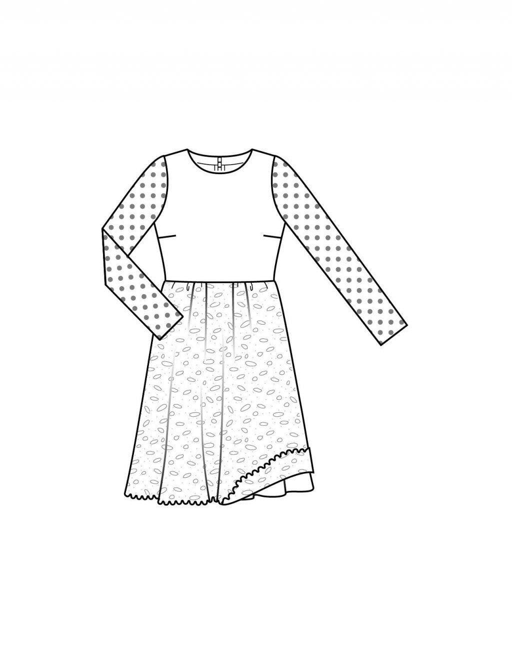 Выкройка для юбки с кружевом