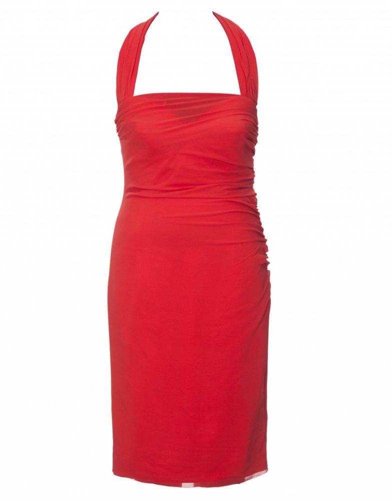 3906ba04c3c Šaty s vázáním za krk