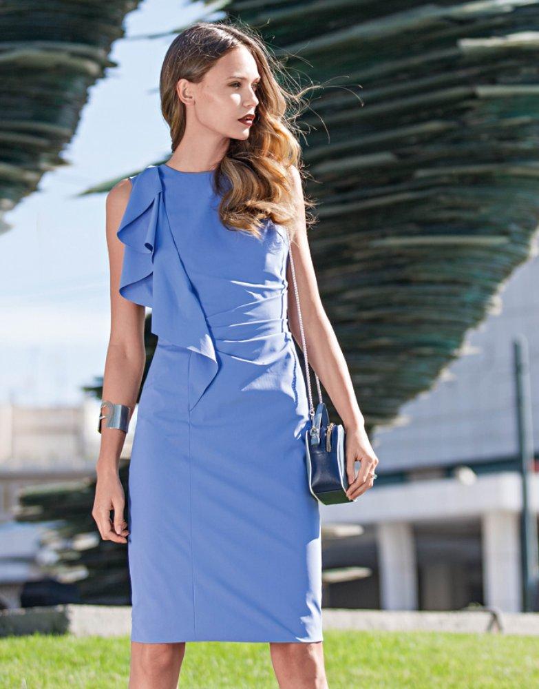 7ad0ecac3f1 Pouzdrové šaty s volánem business